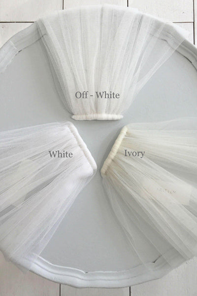 traditional tulle veil colours