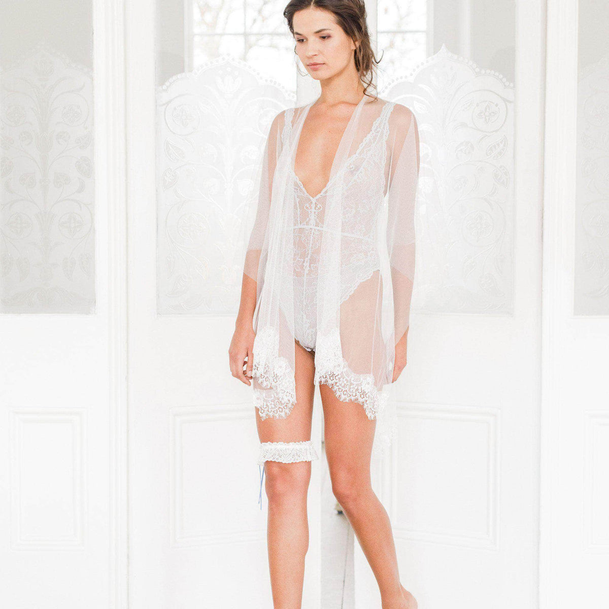 silk tulle and lace cover up