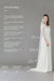 Fingertip length single tier cut edge wedding veil - 'Niacae'