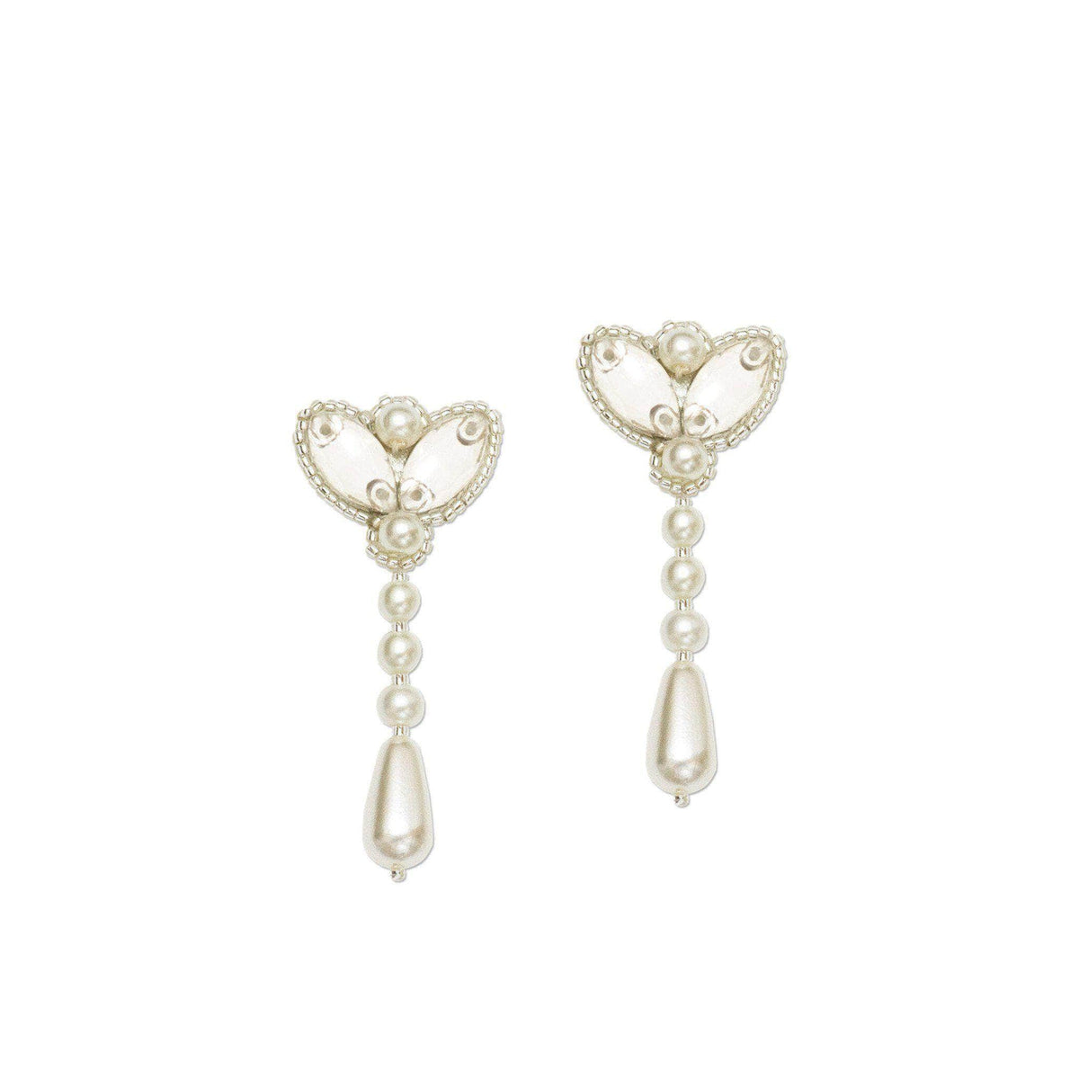 Wedding Earring Silver Wedding drop earrings pearl - 'Sienna'