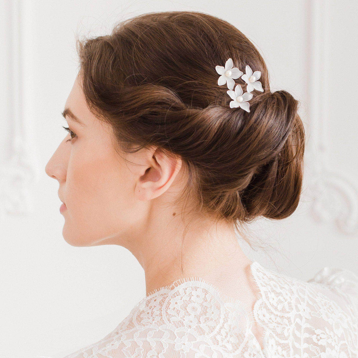 Wedding Hairpin Flower wedding hair pins (x3) - 'Lea'