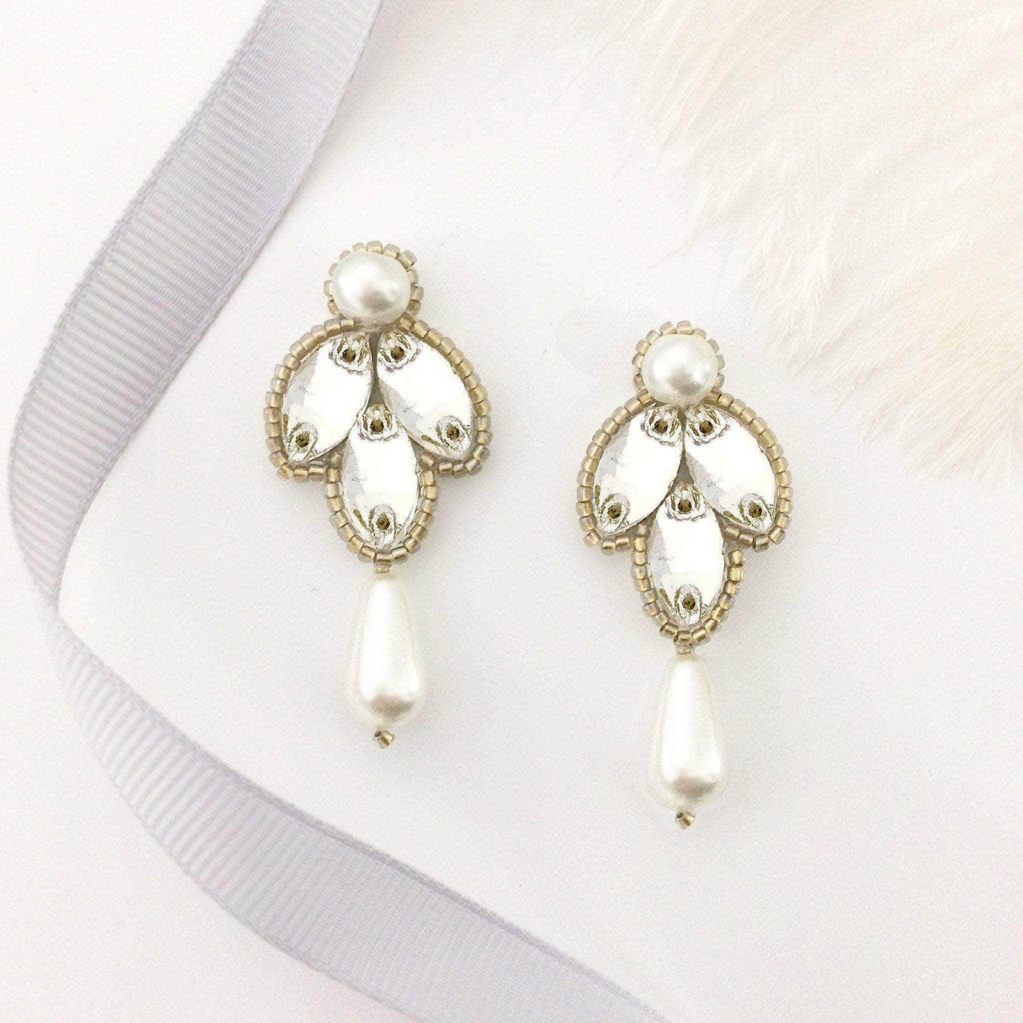 pearl desires yellow gold s girl by mikolay little products earring real stud girls flower