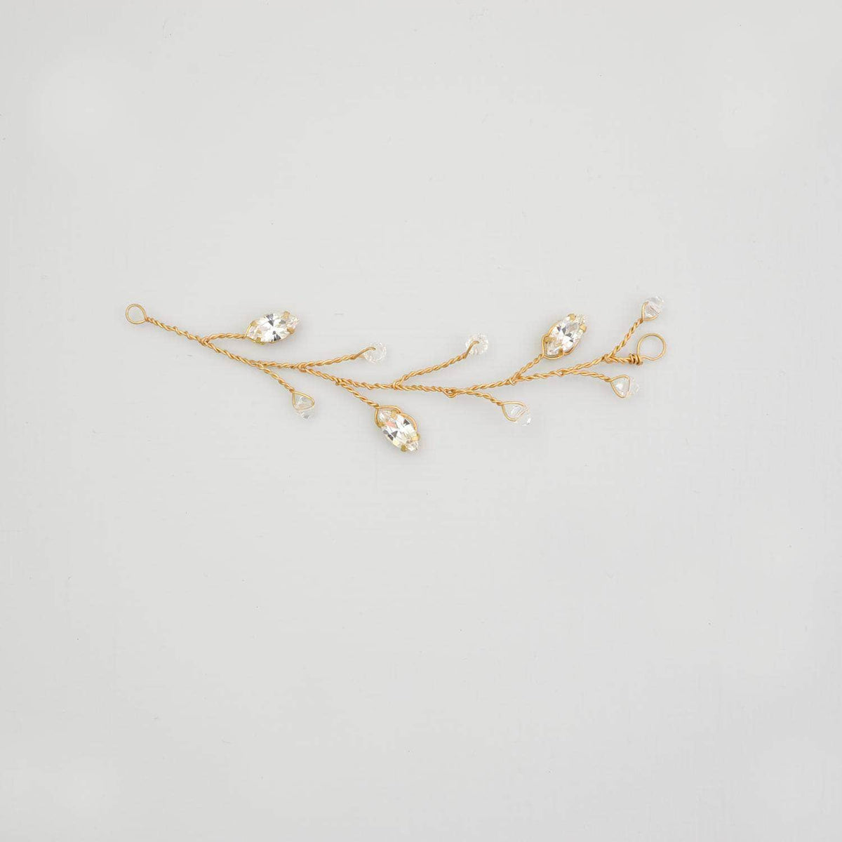Wedding Hairvine Gold Gold floral mini hair vine - 'Jaime'