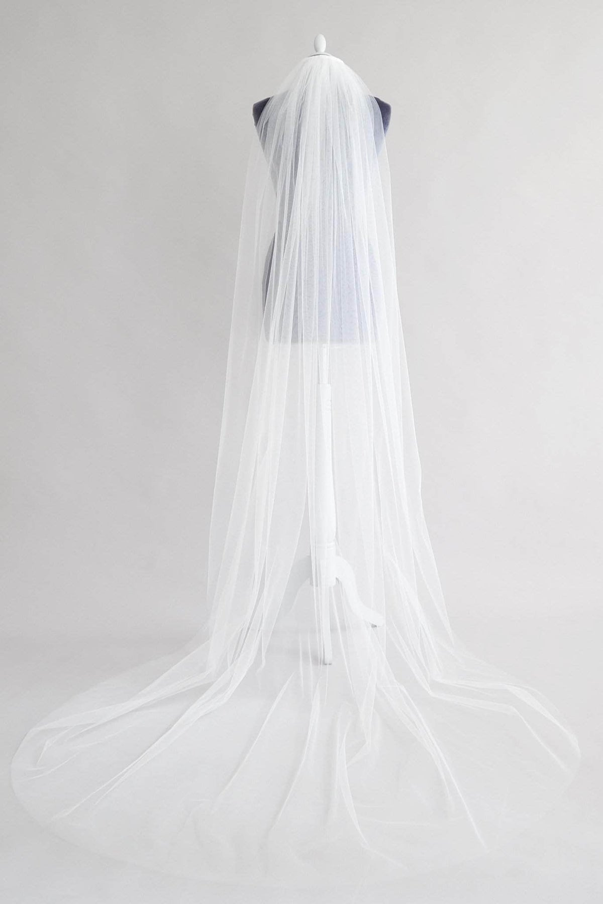 Wedding Veil Extra wide single tier cut edge wedding veil - 'Niacae'