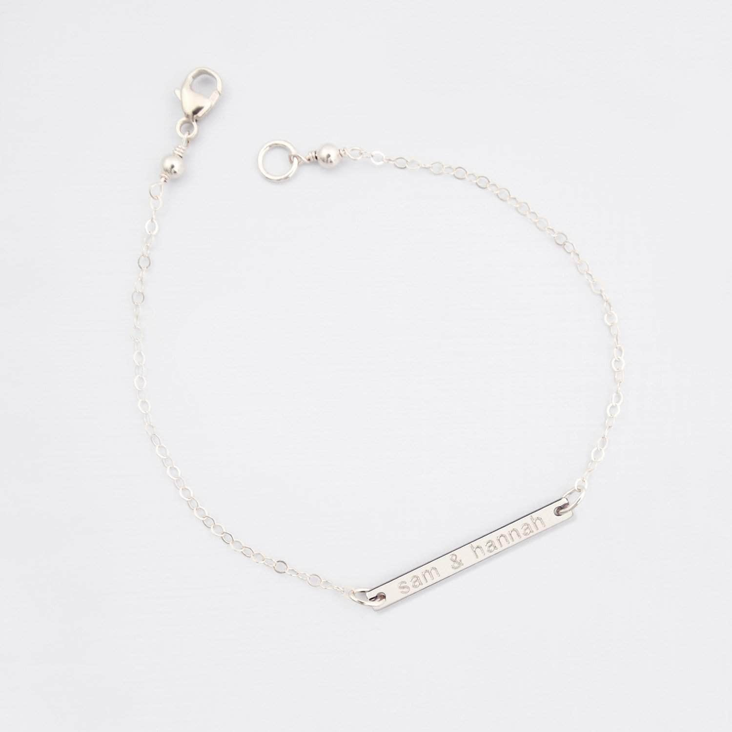 Wedding Bracelet Personalised Bar Bridal Bracelet - 'Otalie'