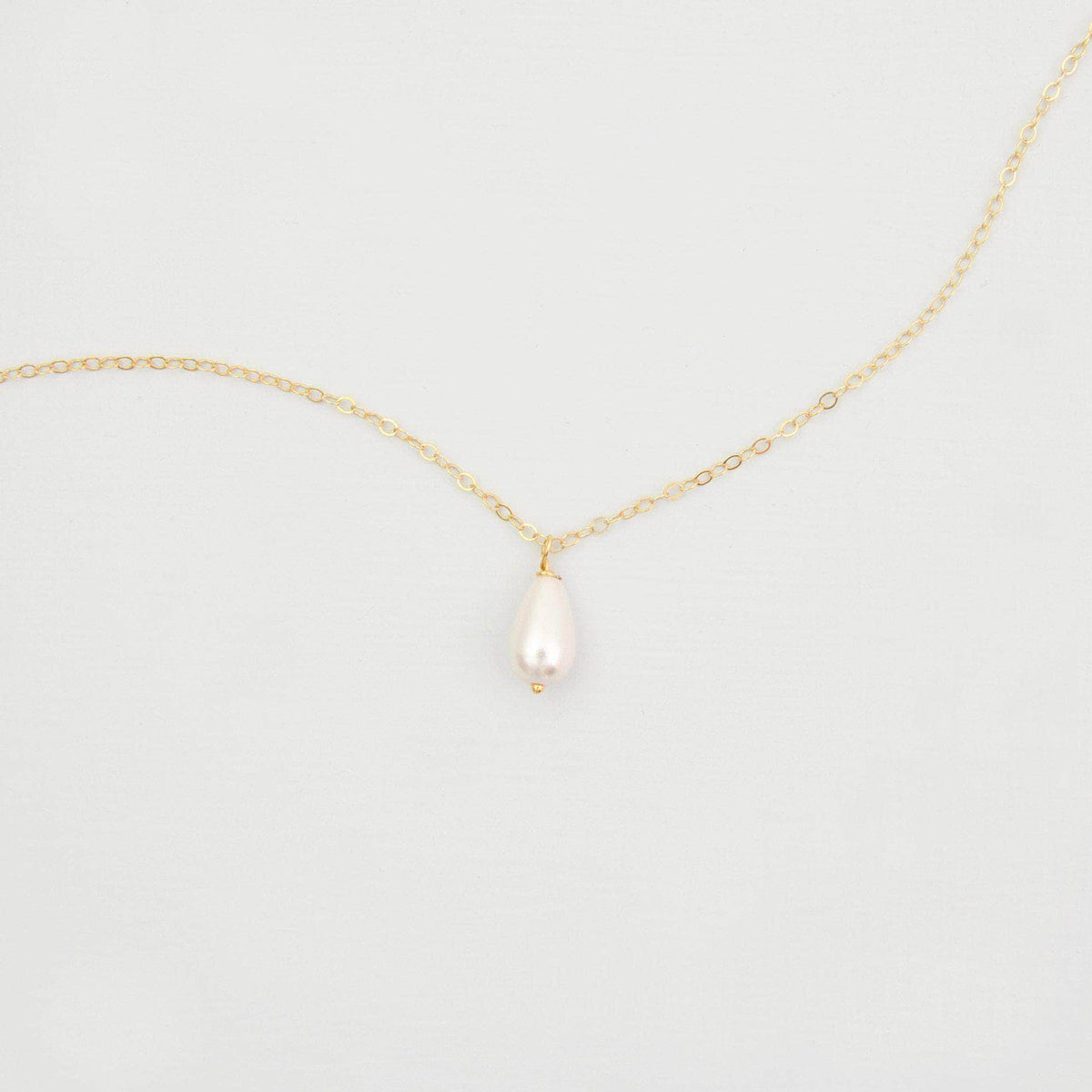Wedding Necklace Pearl drop wedding necklace gold (different sizes available) - 'Hermione'