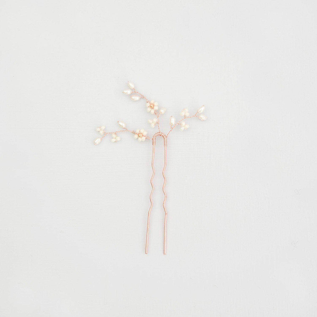 Wedding Hairpin Rose gold Rose gold floral bridal pin - 'Flora'