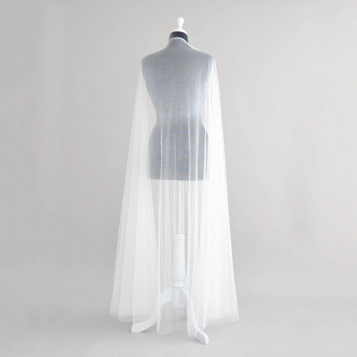 Wedding Cover Up Silk style tulle bridal cape - 'Zana'