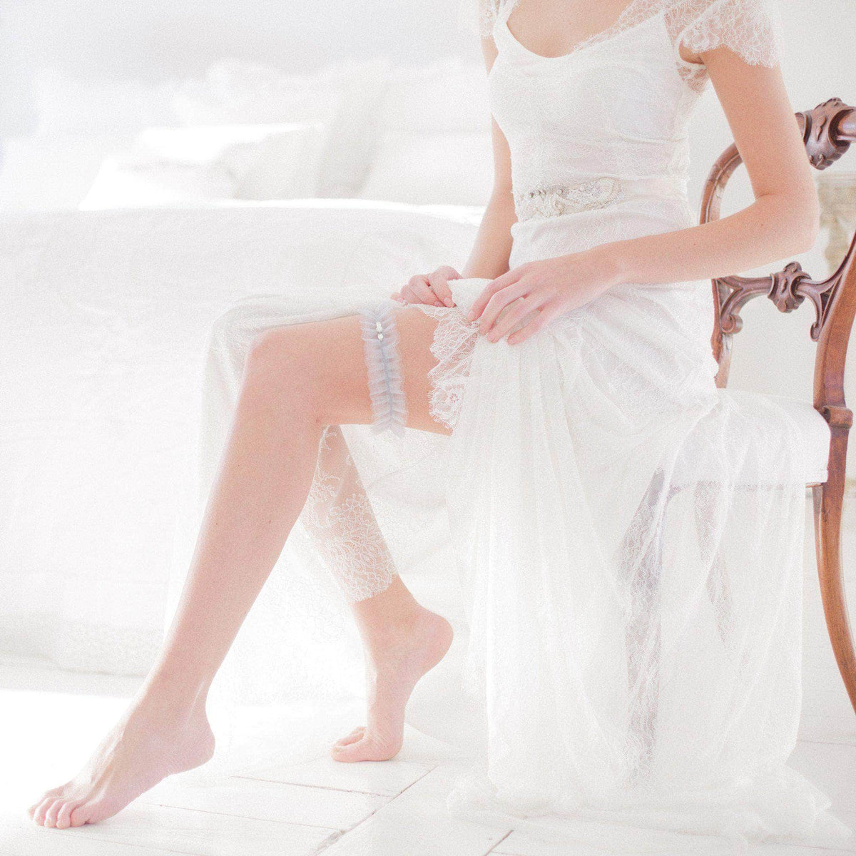 Wedding Garter Tulle wedding garter (various colours) - 'Tallé'