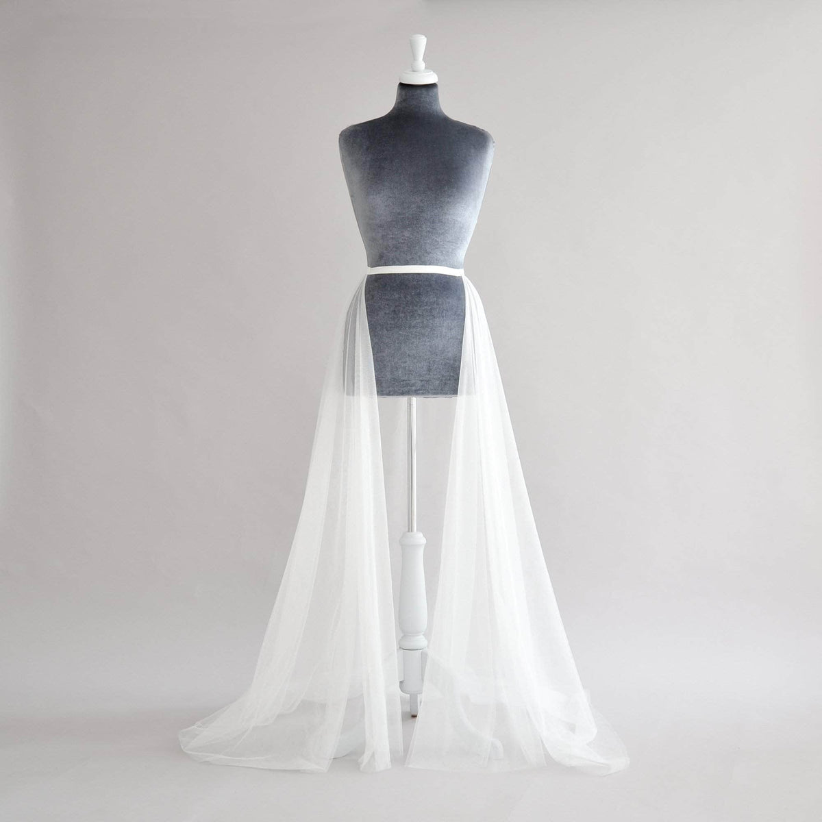 Wedding Cover Up Off white / 8-10 Tulle wedding over-skirt - 'Jericho'
