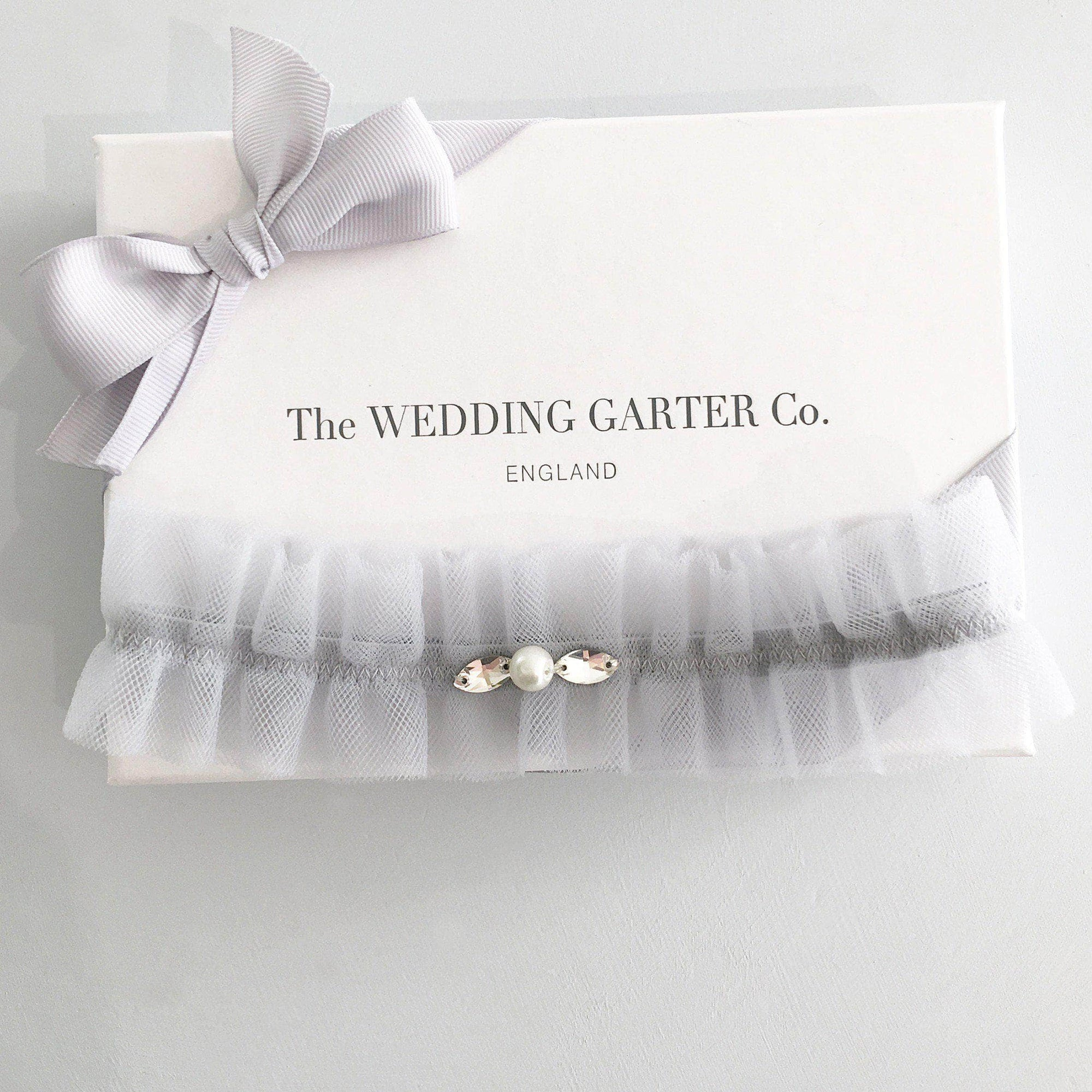 Wedding Garter Soft blue / Extra small 35-40cm (13.5-16 inch) Tulle wedding garter (various colours) - 'Tallé'