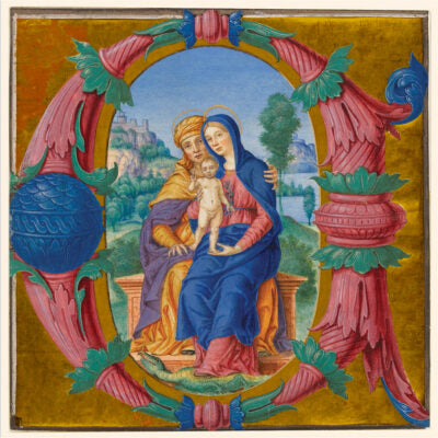 Featured image for the project: Virgin and Child with St Anne(Illuminated letter C)