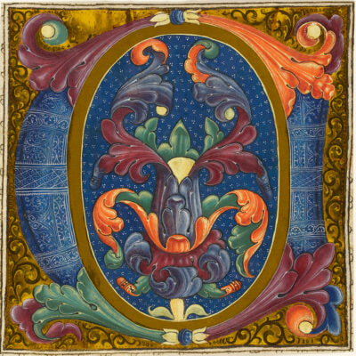 Featured image for the project: Foliate Decoration (Illuminated letter C) - Christmas card pack