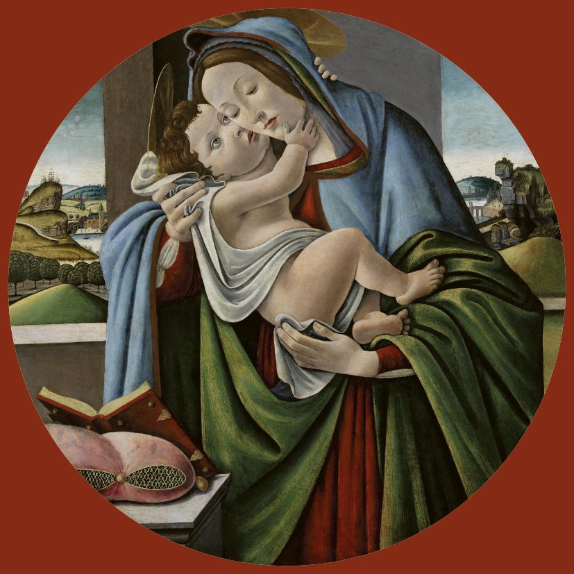 A product image depicting Virgin and Child Tondo - Christmas card pack