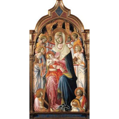 Featured image for the project: Virgin and Child with Angels - Christmas card pack