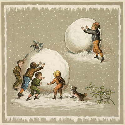 Christmas card pack - Giant Snowballs. From the special collections of Cambridge University Library, brought to you by CuratingCambridge.co.uk