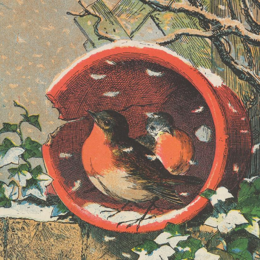 Featured image for the project: Flowerpot Robins - Christmas card pack