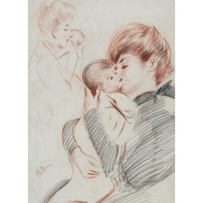 Greeting card - Maternite by Paul-Cesar Helleu. From the collection of The Fitzwilliam Museum, brought to you by CuratingCambridge.com