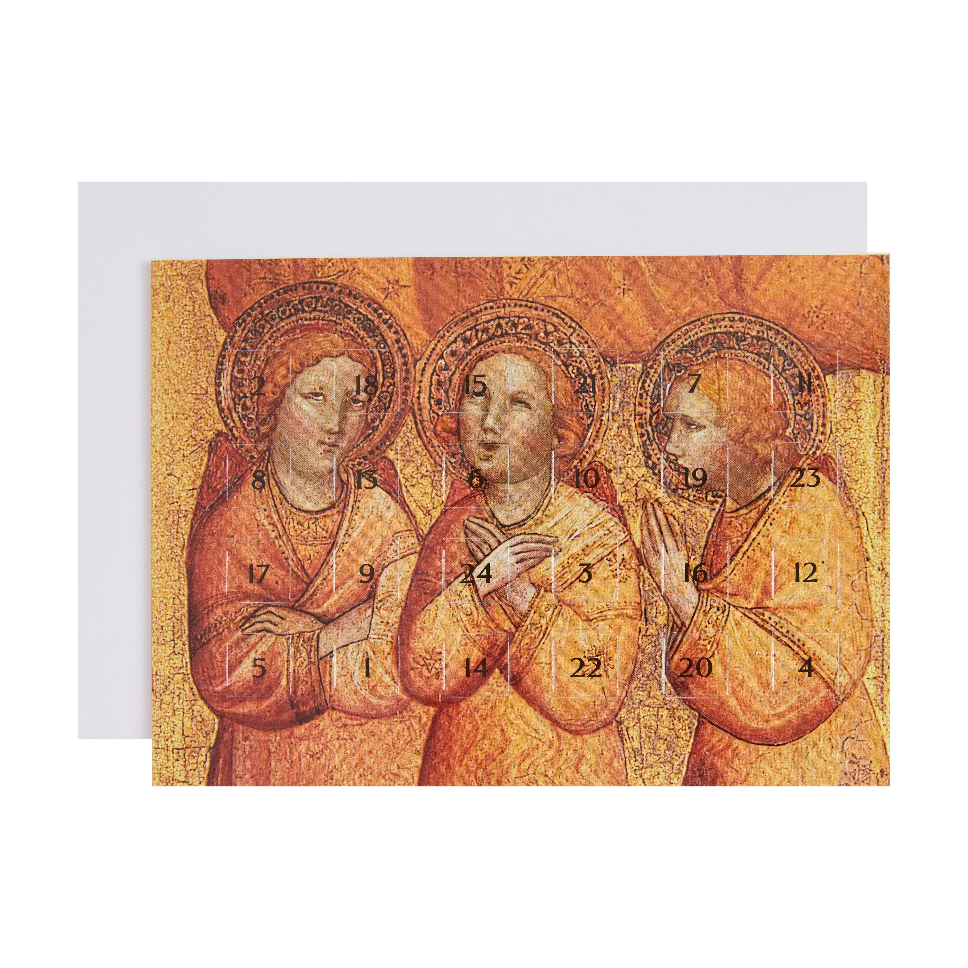 A product image depicting Angels by Ciccarello - Advent Card