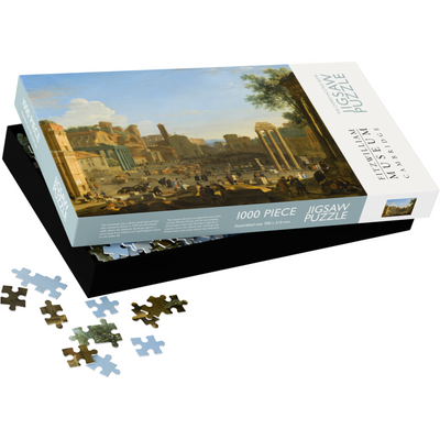 Jigsaw puzzle - Campo Vaccino, Rome, by Herman van Swanevelt. From the Fitzwilliam Museum collection, brought to you by CuratingCambridge.co.uk