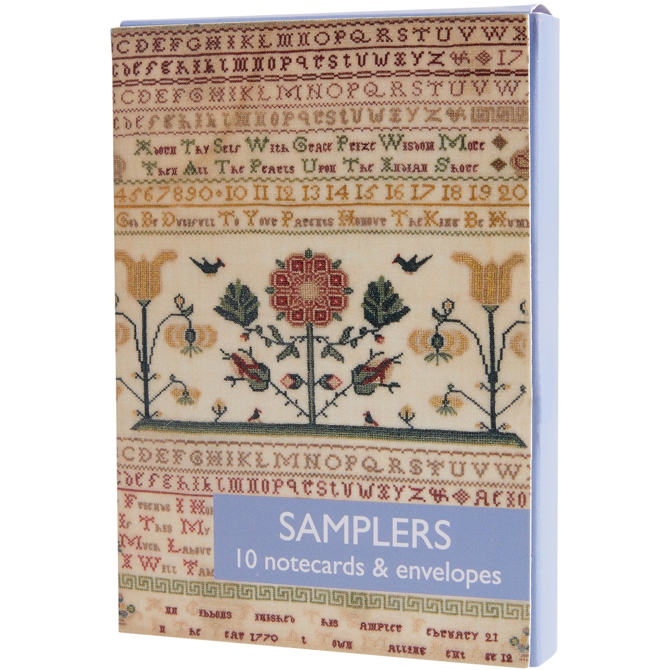 Featured image for the project: Samplers  - Notecard pack