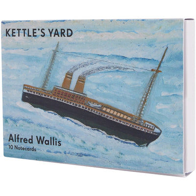 Notecard pack with 10 Alfred Wallis painting notecards. Cover image: P&O Yard, brought to you by CuratingCambridge,com