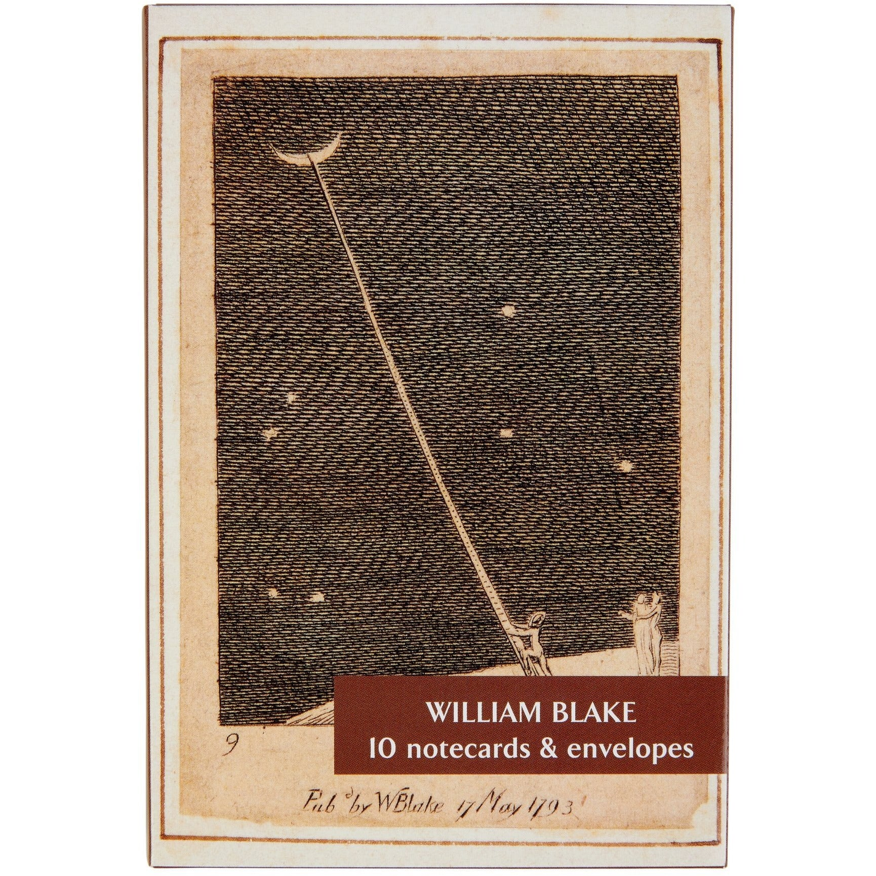 A product image depicting William Blake - Notecard pack