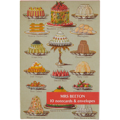 Notecard pack - Mrs Beeton's Book of Household Management. Cover image - Jellies and Creams. From the collection of Cambridge University Library, brought to you by CuratingCambridge.co.uk