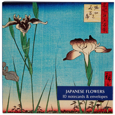 Notecard pack - Japanese Flowers. Cover image - Horikiri iris garden by Utagawa Hiroshige. From the collection of the Fitzwilliam Museum, brought to you by CuratingCambridge.co.uk