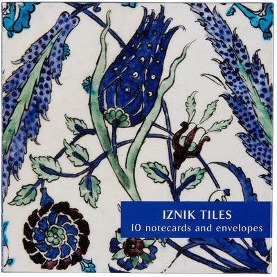 Notecard pack - Iznik Tiles. Syrian stone-paste tile with painted underglaze, c.1550-1600. From the collection of The Fitzwilliam Museum, brought to you by CuratingCambridge.co.uk