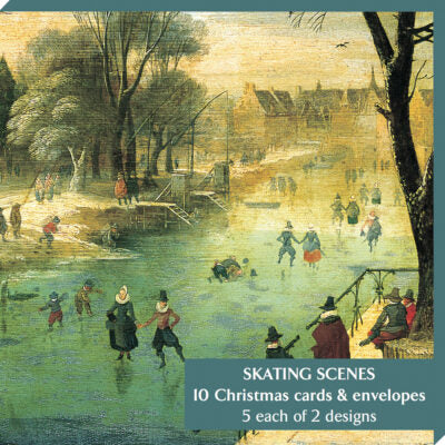 Notelet pack - Skating Scenes. Cover image - Winter Scene by Jacques Fouquier. From the collection of The Fitzwilliam Museum, brought to you by CuratingCambridge.com