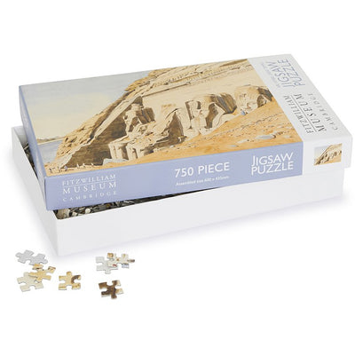 750 piece jigsaw puzzle - The Great Temple at Abu Simbel by Canon G.F. Weston. Fitzwilliam Museum collection, brought to you by CuratingCambridge.co.uk