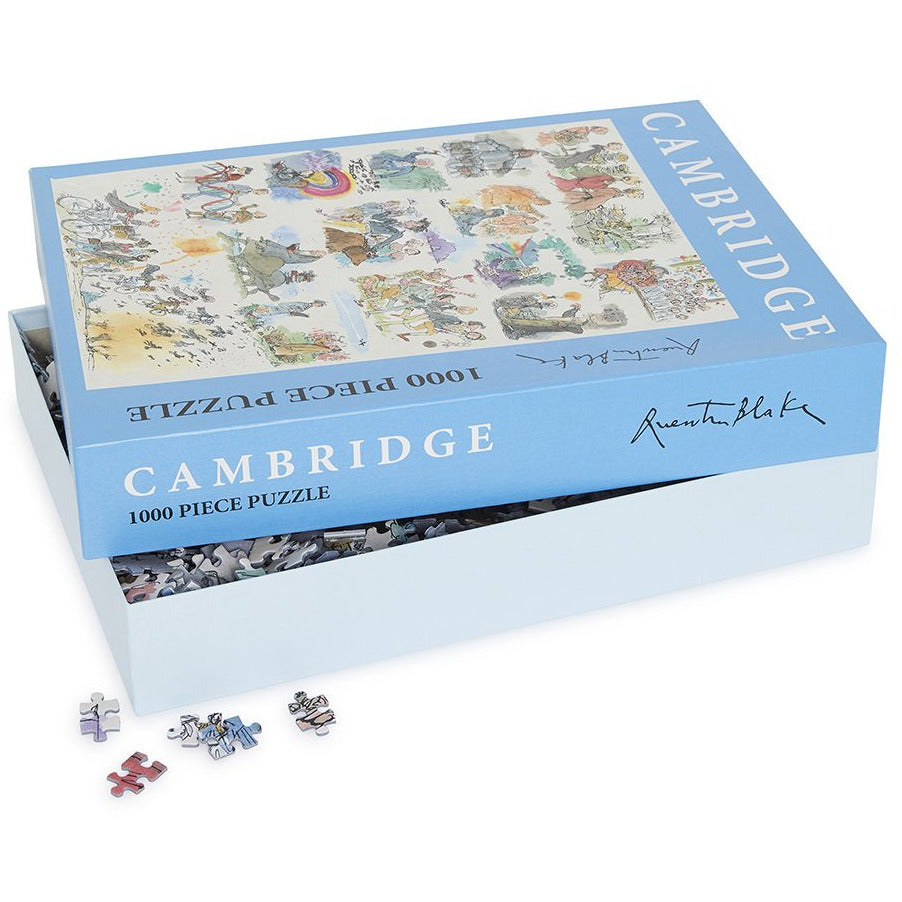 Featured image for the project: Cambridge 800: An Informal Panorama by Quentin Blake - 1000 piece jigsaw puzzle