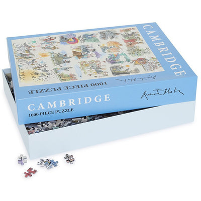 1000 piece jigsaw puzzle - Cambridge 800 panorama featuring notable alumni of Cambridge University. Brought to you by CuratingCambridge.co.uk