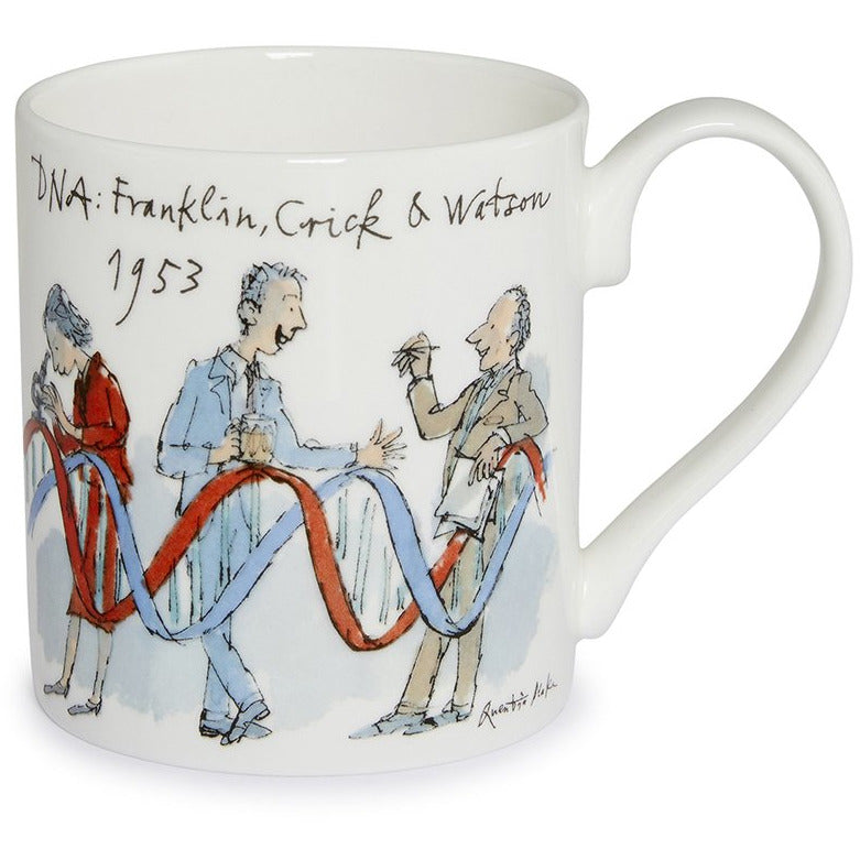 Featured image for the project: Franklin, Crick and Watson by Quentin Blake - Fine bone china mug