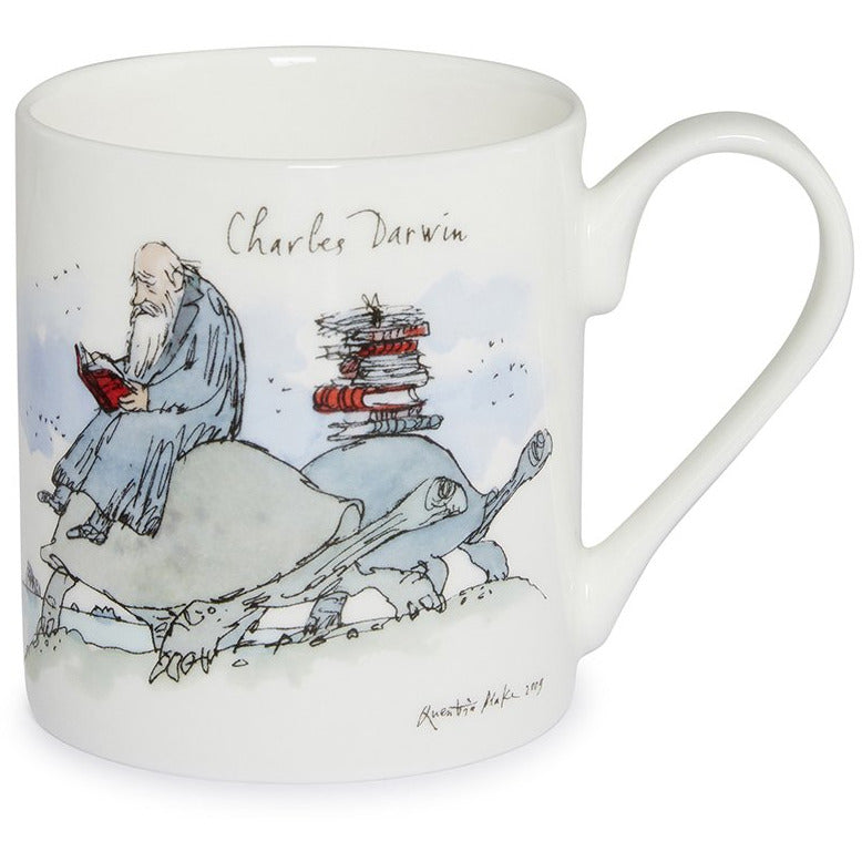 Featured image for the project: Charles Darwin by Quentin Blake - Fine bone china mug