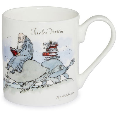 Fine bone china mug, with printed image of Charles Darwin by Quentin Blake. Produced for the Cambridge University 800 celebrations in 2009. Brought to you by CuratingCambridge.co.uk