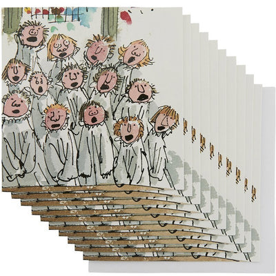 Christmas card pack, King's College Choir by Quentin Blake. Brought to you by CuratingCambridge.co.uk