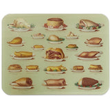 Glass worktop saver, Mrs Beeton meat illustrations. From Cambridge University Library.