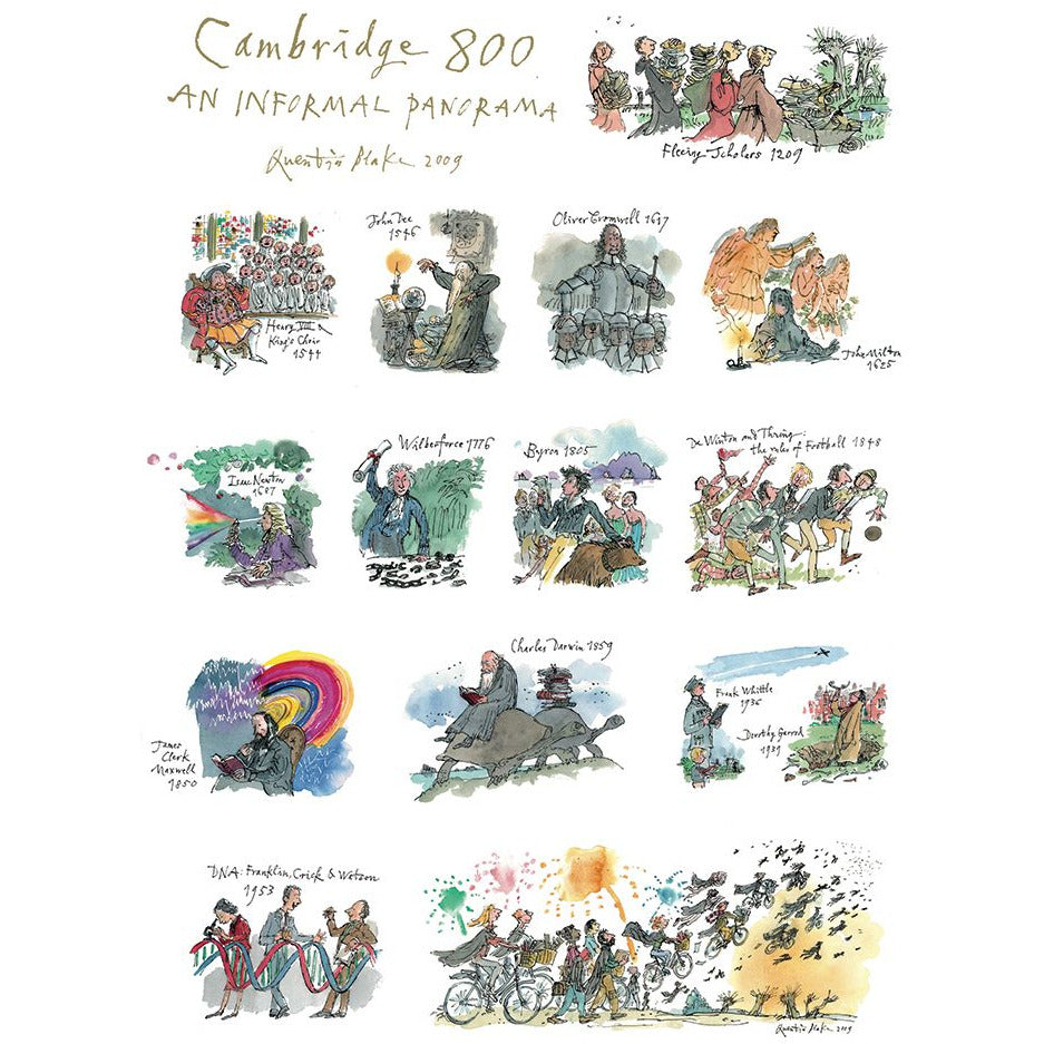 Featured image for the project: Cambridge 800 by Quentin Blake - Tea towel