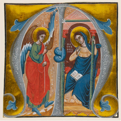 Featured image for the project: Annunciation to the Virgin  (Illuminated letter M)