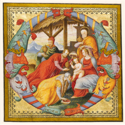 Featured image for the project: Adoration of the Magi (Illuminated letter O)