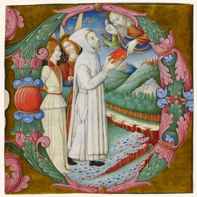 Featured image for the project: In the Company of Angels (Illuminated letter O) - Christmas card pack