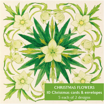Notecard pack - Christmas Flowers by Clarence Bicknell. From the Broughton Collection of The Fitzwilliam Museum, brought to you by CuratingCambridge.com