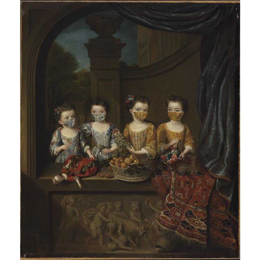 Featured image for the project: Fitzwilliam Masked Masterpieces: The Daughters - Greetings card