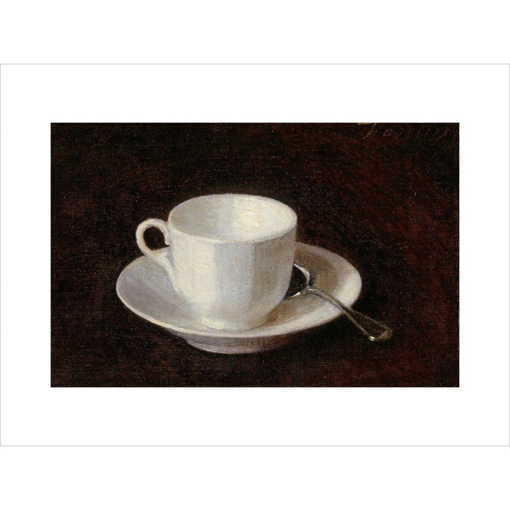 Featured image for the project: White cup and saucer - Art print