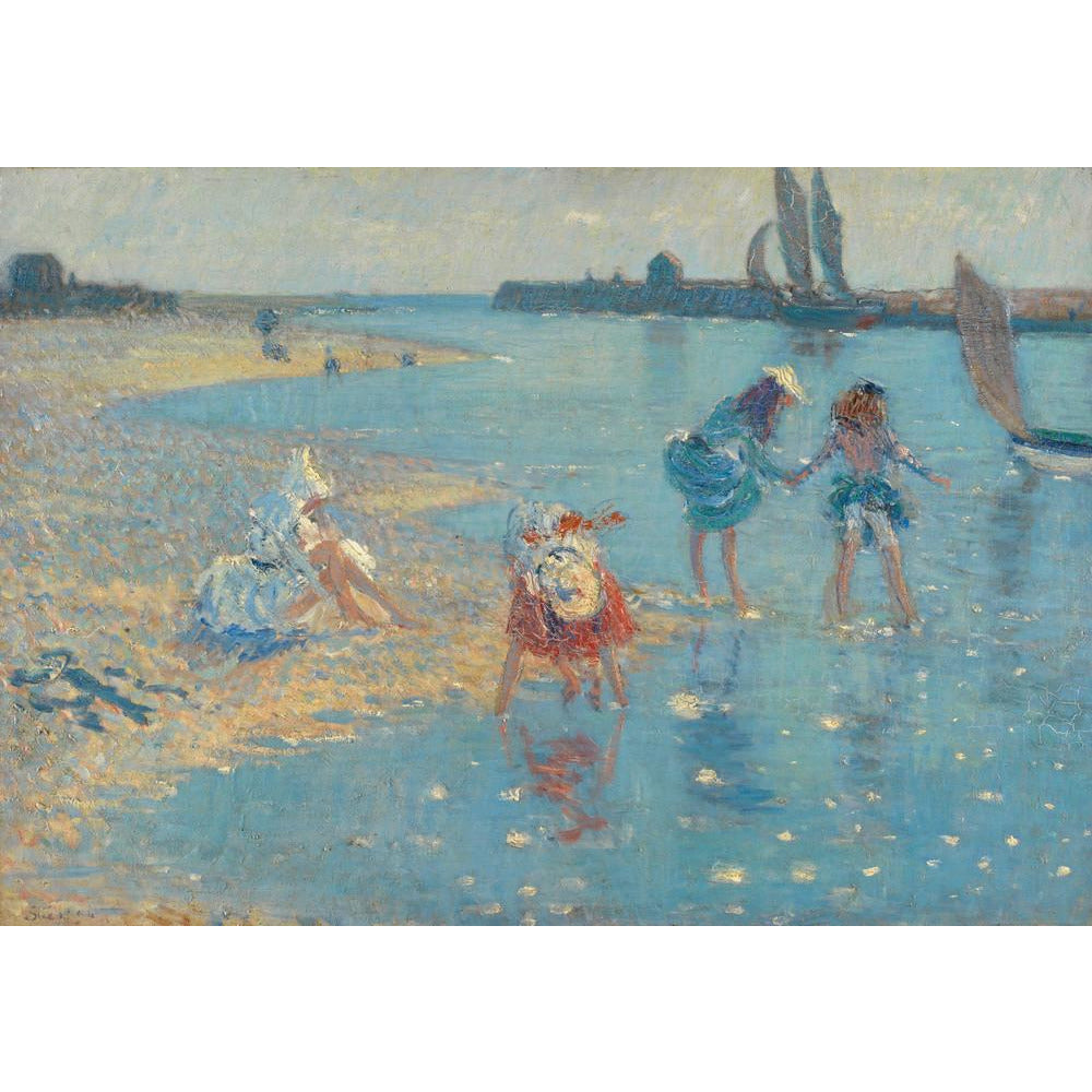Featured image for the project: Children Paddling, Walberswick - Art print