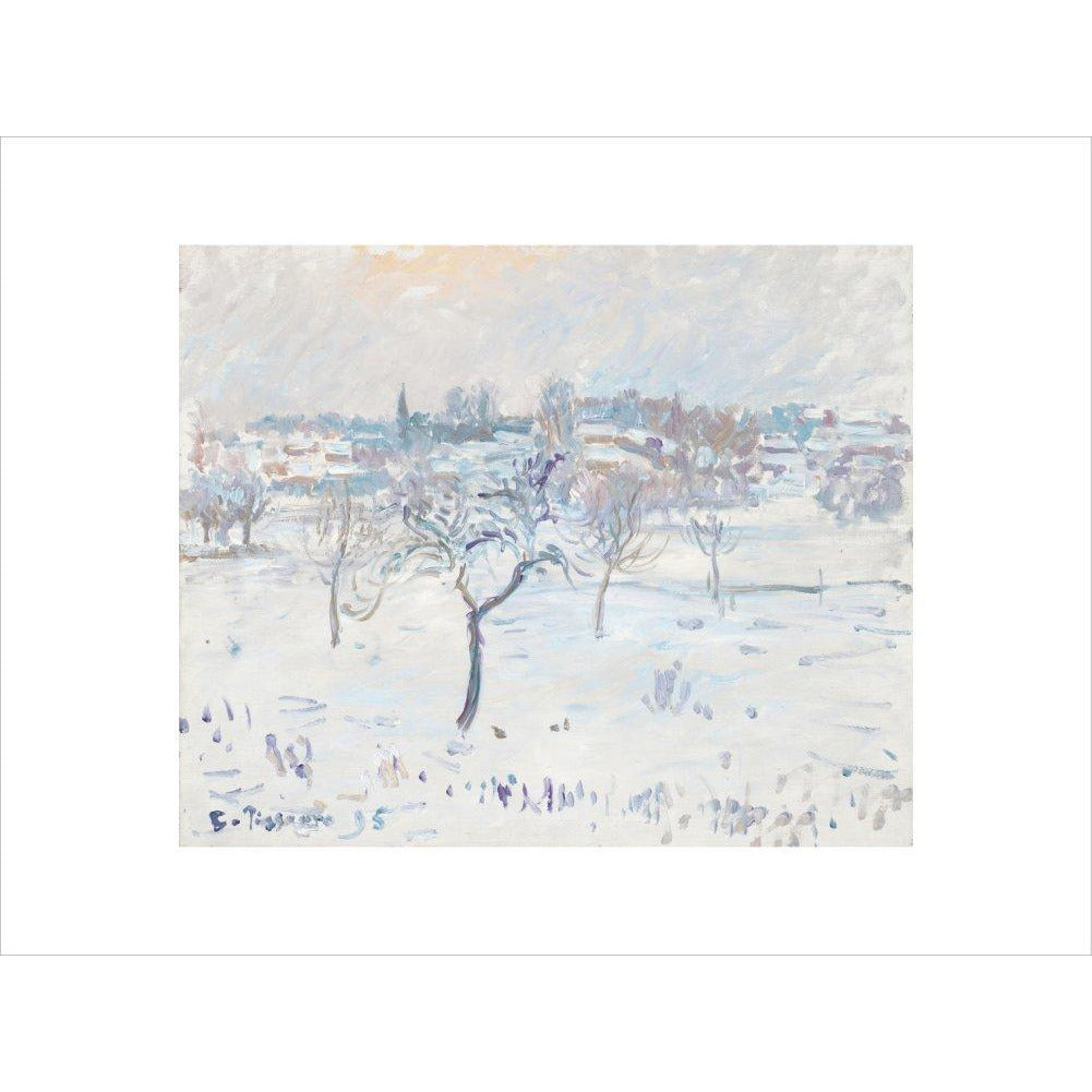 Featured image for the project: Snowy landscape at Eragny - Art print