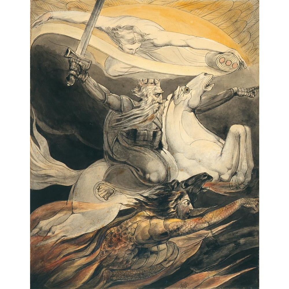 A product image depicting Death on a Pale Horse - Art print