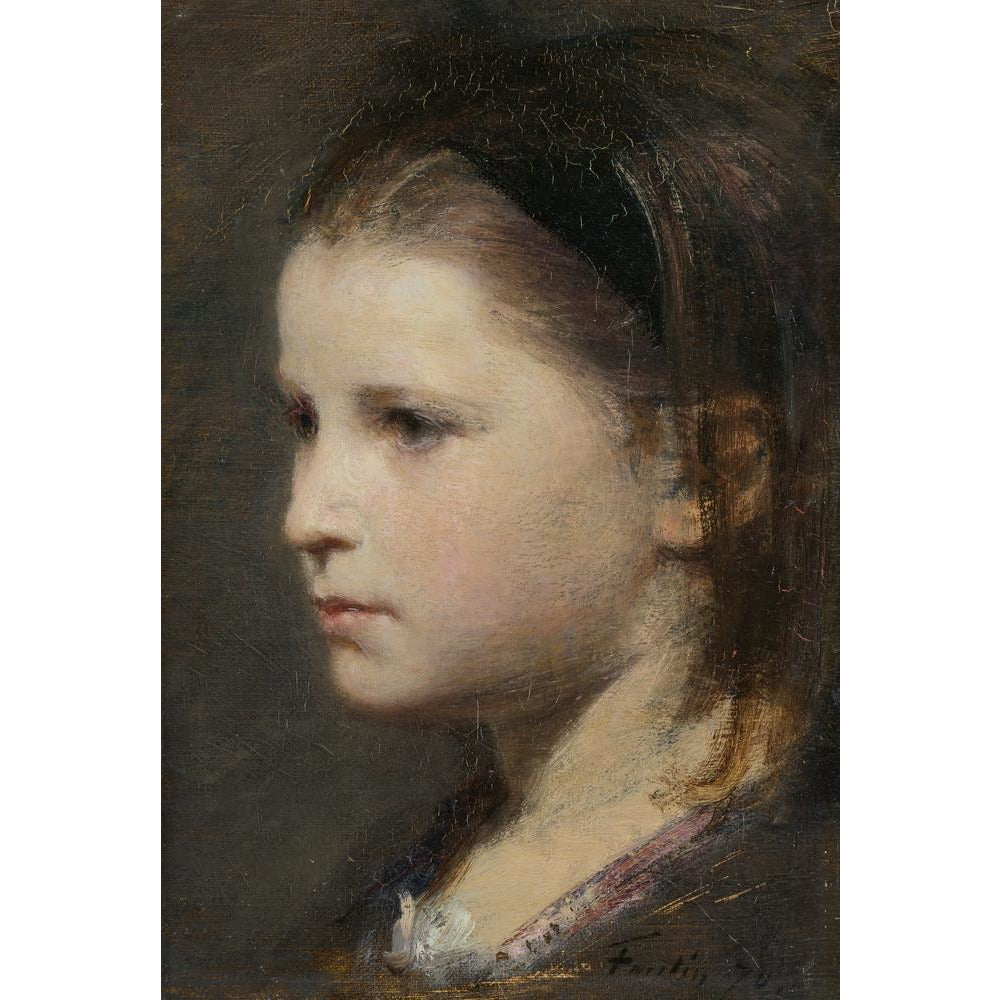A product image depicting Head of a young girl - Art print